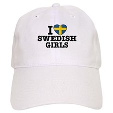 I Love Swedish Girls Baseball Cap