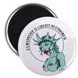 "Censorship is Liberty Restrai 2.25"" Magnet (100 pa"