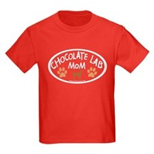 chocolate lab mom oval T