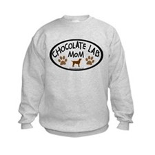 chocolate lab mom oval Sweatshirt