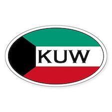 Kuwaiti Stickers Oval Sticker (50 pk)
