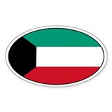 Kuwaiti Stickers Oval Sticker (50 pk)