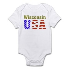 Wisconsin USA Infant Bodysuit