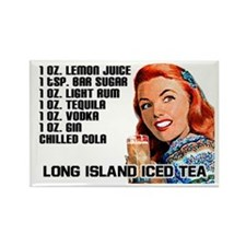 Long Island Iced Tea Recipe Fridge Magnet