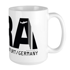 Frankfurt Germany FRA Airport Code Large Mug