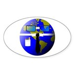 Geek Oval Sticker (50 pk)