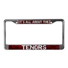 All About Tenors License Plate Frame Red