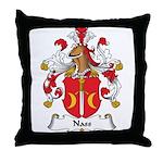 Nass Family Crest Throw Pillow