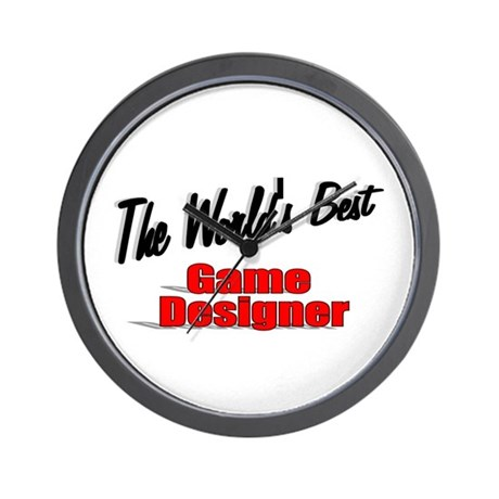 """The World's Best Game Designer"" Wall Clock"