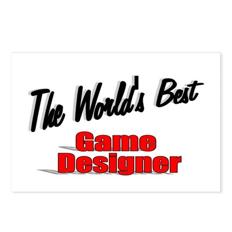 """The World's Best Game Designer"" Postcards (Packag"