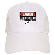 Danger Off Gassing Baseball Cap
