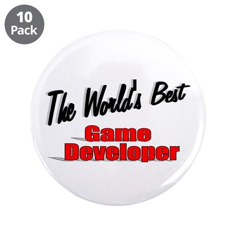 """The World's Best Game Developer"" 3.5"" Button (10"