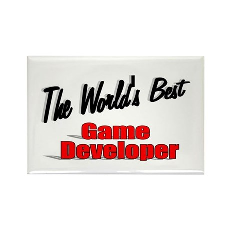 """The World's Best Game Developer"" Rectangle Magnet"