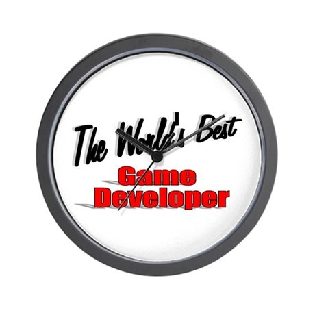 """The World's Best Game Developer"" Wall Clock"