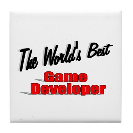 """The World's Best Game Developer"" Tile Coaster"