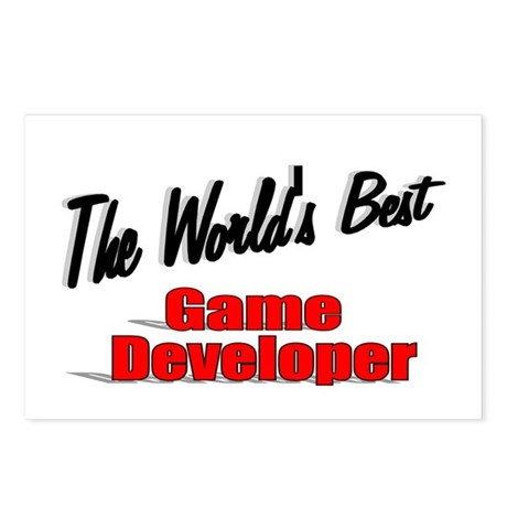 """The World's Best Game Developer"" Postcards (Packa"