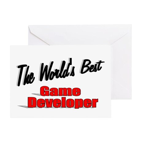 """The World's Best Game Developer"" Greeting Card"