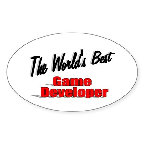 """The World's Best Game Developer"" Oval Sticker"