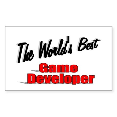 """The World's Best Game Developer"" Sticker (Rectang"