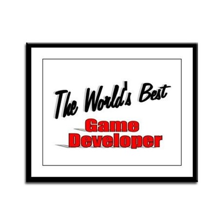 """The World's Best Game Developer"" Framed Panel Pri"