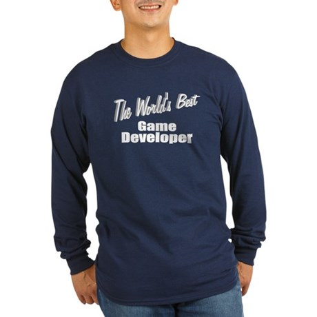 """The World's Best Game Developer"" Long Sleeve Dark"