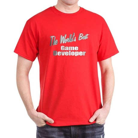 """The World's Best Game Developer"" Dark T-Shirt"