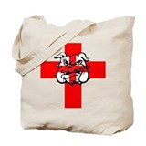 Cross of St George Bulldog Tote Bag