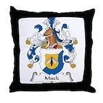 Muck Family Crest Throw Pillow