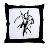 Gothic Grim reaper artwork Throw Pillow