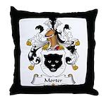 Morter Family Crest Throw Pillow