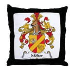 Molter Family Crest Throw Pillow