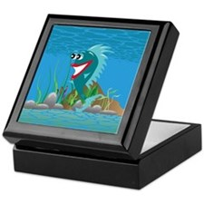 Aqua Happy Fish Keepsake Box