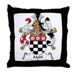 Mohl Family Crest Throw Pillow