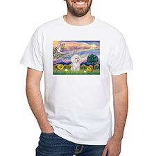 Cloud Angel & White Poodle Shirt