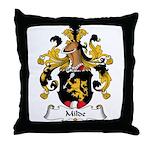 Milde Family Crest Throw Pillow