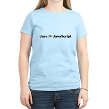 Java not Javascript Woman's T-Shirt