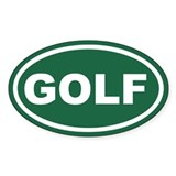 Green Golf Euro Oval Decal
