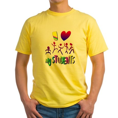 I Love My Students Yellow T-Shirt