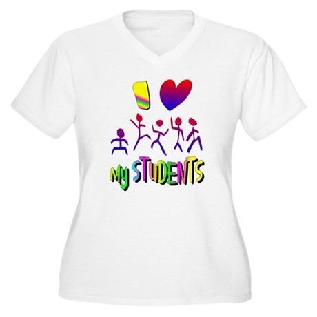 I Love My Students Women's Plus Size V-Neck T-Shir