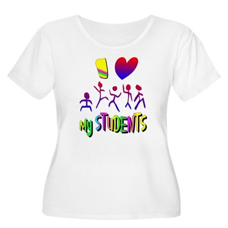 I Love My Students Women's Plus Size Scoop Neck T-
