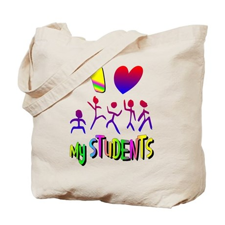 I Love My Students Tote Bag