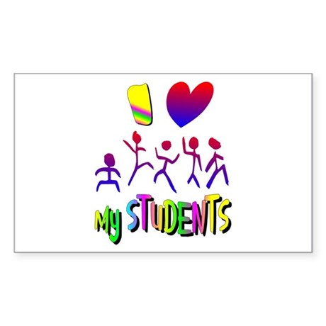 I Love My Students Rectangle Sticker 50 pk)