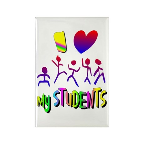 I Love My Students Rectangle Magnet (10 pack)