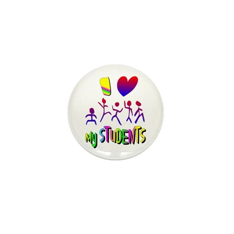 I Love My Students Mini Button (10 pack)
