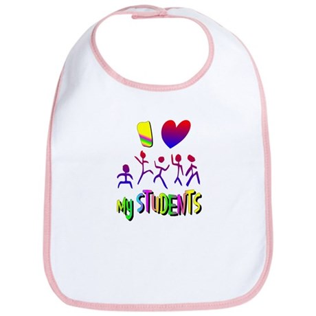 I Love My Students Bib
