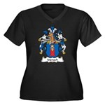 Mensch Family Crest Women's Plus Size V-Neck Dark