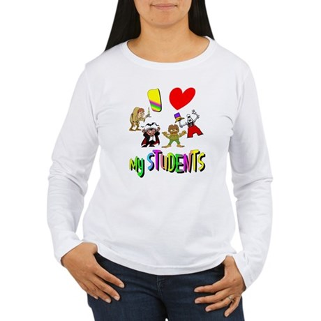 I Love My Students Women's Long Sleeve T-Shirt