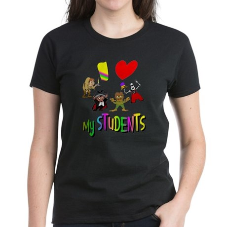 I Love My Students Women's Dark T-Shirt