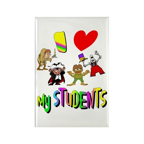 I Love My Students Rectangle Magnet (100 pack)