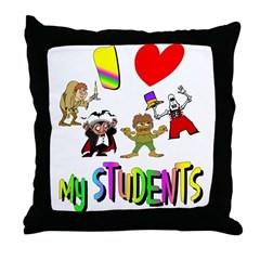 I Love My Students Throw Pillow